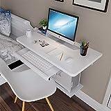 Wall Table Wandtisch,schwimmender Laptop-Schreibtisch,multifunktionsschreibtisch,mit Schwimmendem Regal + Tastaturablage,3 Farben