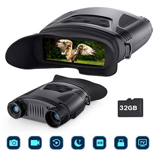 Jumelles Vision Nocturne pour la Surveillance, Appareil de Jumelles Infrarouge Portable pour...