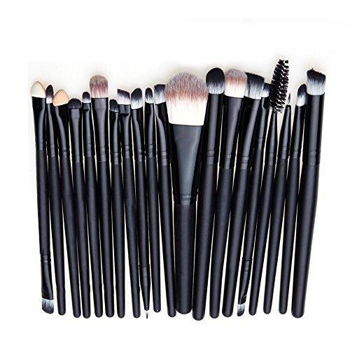 Contever 20 Stück Holz Make up Pinselset Makeup Bürsten Foundation Lidschatten Eyeliner Lippen...