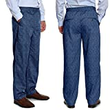 Pembrook Men's Full Elastic Waist Twill Casual Pant - XL - Denim