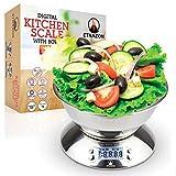 Bilancia Cucina Acciaio Inox, Bilancia da Cucina Digitale Con Ciotola Rimovibile, 5kg/ 11l...