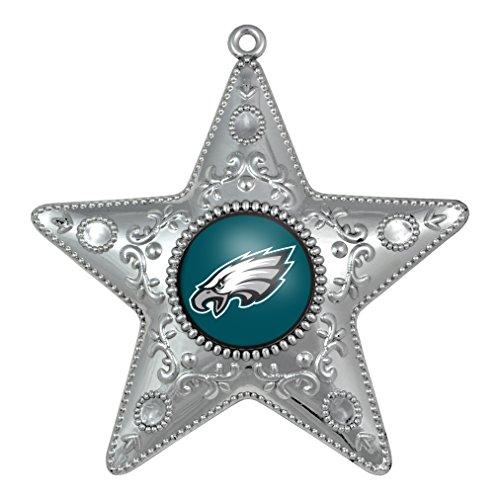 NFL Philadelphia Eagles Silver Star Ornament, Small, Silver