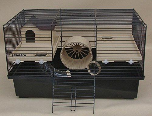 Interzoo Hamsterkäfig, Käfig, Matt mit super Ausstattung in beige