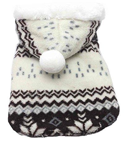 SAMGU Vêtements de Noël Hoodie Pull Manteau en Velours à Capuche pour Chien Motif Flocon de Neige...