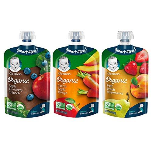 Gerber Organic 2nd Foods, Fruit & Veggie Variety Pack Pureed Baby Food,...