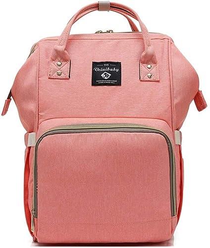 QRFDIAN Rucksack Weißichen koreanischen Version des multifunktionalen Mutter-und-Kind-Pakets mit Größer Kapazit den Reiserucksack der Mutter Hochwertiger Stoff (Farbe   Rosa, Größe   27x15x40cm)
