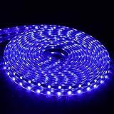 Luoshan Light Strip, 25meter SMD 5050 Ac 220v Led Outdoor Waterproof Light Strip, Suitable for Desktop Decoration/tv Background Lighting/Party (Color : Blue)