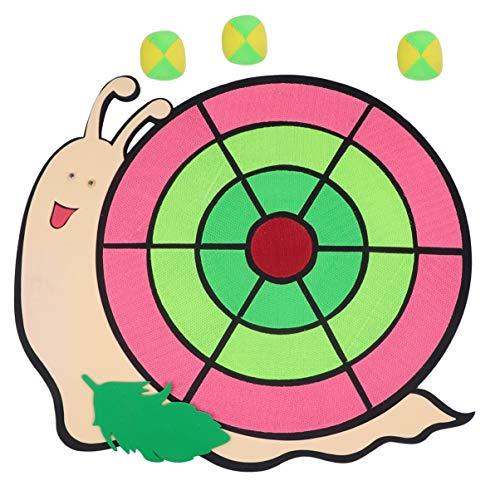 Toyvian Kinder Dart Brettspiel Kinder Dartscheibe Bälle Schnecke Muster Fangballspiel Ballspiel Wurfspiel Scheibe mit Bällen für Garten Kinder Halloween Geburtstag Weihnachten Partygeschenke