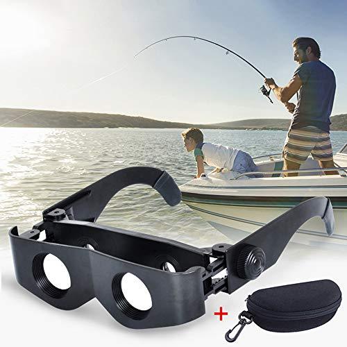 Tragbare Fischerei teleskop Brille, fernglas 6X Lupe einstellbare Brillen mit aufbewahrungskoffer