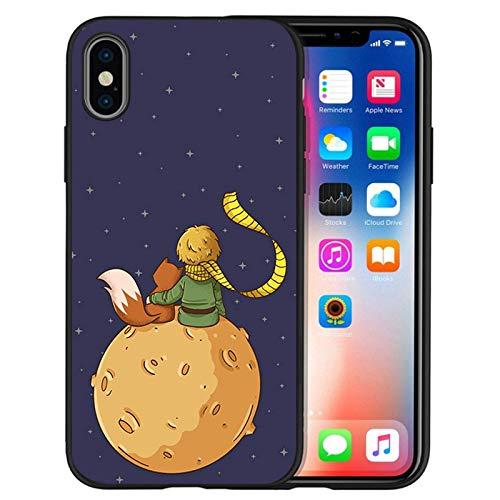 Little Prince Fox Elephant Rose Black TPU Silicone Soft Shone Funda para iPhone 7 8 SE 2020