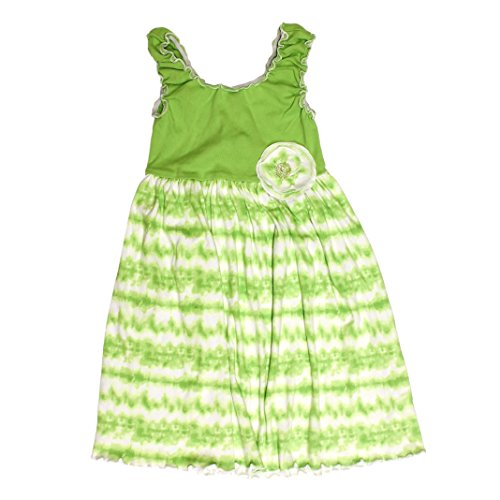 Mignone Tie Dye Sleeveless Dress for Girls,3T Green