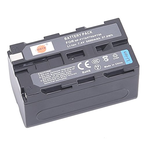 DSTE Replacement for NP-F750 Li-ion Battery Compatible Sony CCD-TRV215 CCD-TR917 CCD-TR315 HDR-FX1000 HDR-FX7 HVR-V1U HVR-Z7U HVR-Z5U Camera as NP-F730 NP-F770