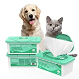 PUPMATE Pet Wipes for Dogs & Cats, Extra Moist & Thick Grooming Puppy Wipes with 100 Fresh Counts, Aloe Vera/Nature