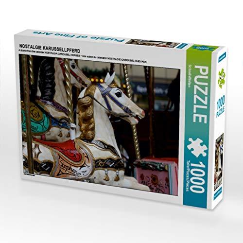 CALVENDO Puzzle Nostalgie KARUSSELLPFERD 1000 Teile Lege-Größe 64 x 48 cm Foto-Puzzle Bild von SchnelleWelten