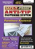 Safe-T-Proof Anti-Tip Fastening System Furniture Fastener, White -STP-MP-201-WH-01