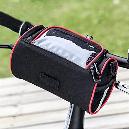 Bolsa para manillar de bicicleta, impermeable, con pantalla táctil de menos de 6 pulgadas, multifuncional, para bicicleta de montaña