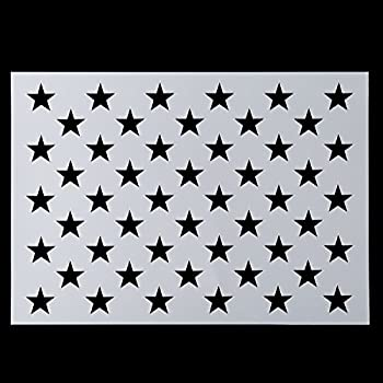 American Flag 50 Star Stencil for Painting on Wood Paper Fabric Glass and Wall Art