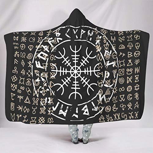 Generic Branded The Helm of Awe - Manta con capucha para niños y adultos (127 x 152 cm), color blanco