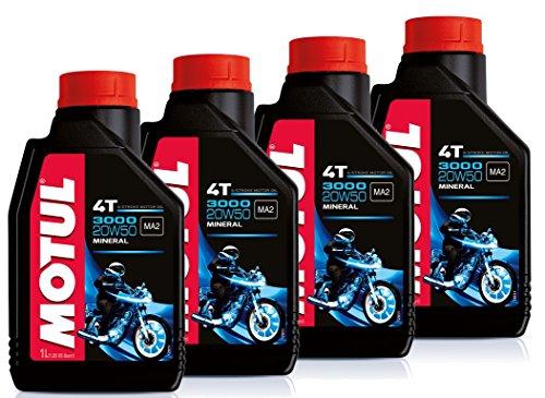 Aanbieding 4 liter motorolie MOTUL 3000 20W50 4T