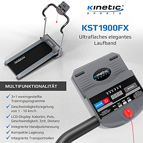 Kinetic Sports KST1900FX Laufband klappbar elektrisch flach 500 Watt - 4