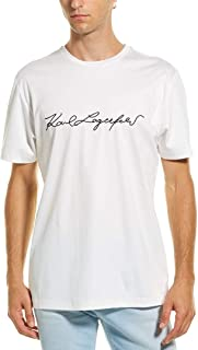 Mens Embroidered Signature T-Shirt, L, White