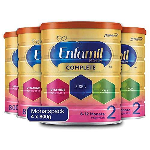 Enfamil Premium Complete 2 Folgemilch Pulver - Folgemilch für Säuglinge im Alter von 6 bis 12 Monaten - Monatspack 4 x 800 g