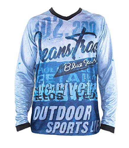 Jeanstrack Enduro Sens Camiseta técnica MTB, Unisex Adulto, Azul, M