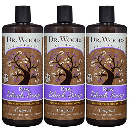 Dr. Woods Raw African Black Liquid Soap with Organic Shea Butter, 32 Ounce (Pack of 3)