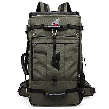 KAKA KakaOutdoor Extra Large Travel Backpack Hiking Bag Camping Daypack Rucksack #2070 Army Green