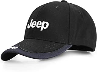 Bocianelli for Jeep Embroidered Logo Black Color Adjustable Baseball Caps for Men and Women