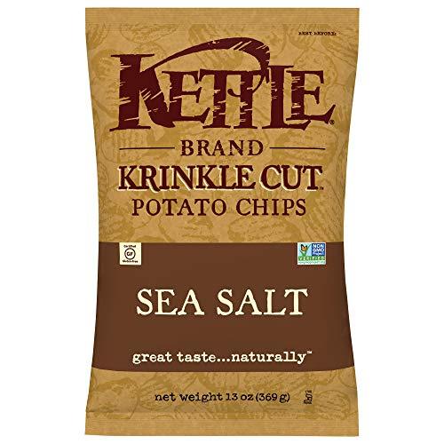 Kettle Brand Potato Chips, Krinkle Cut Sea Salt, 13 Ounce