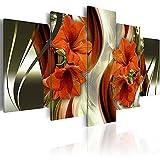 ARXYD 5 Stück Hd-Druck Wandkunst Lilien Blumen Leinwand