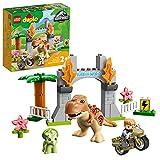 LEGO DUPLO Jurassic World Fuga del T. rex e del Triceratopo, Dinosauri Giocattolo, Costruzioni per Bambini di 2 Anni, 10939