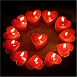 Best Scented Candles - HK Balloons 10Pcs Tealight Candles, Romantic Heart-Shaped Rose Review