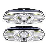 Luz Solar Exterior 104 LED, 2-Paquete 3 Modes LED Solares...