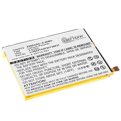 cellePhone batería Li-Polymer para ZTE Blade V7 (reemplazado Li3825T43P3h736037)