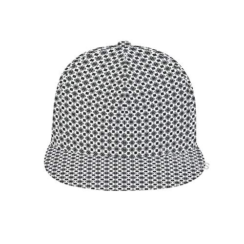 Mesllings Unisex Tegel Zwart en Wit Naadloos Patroon Mode Hip Hop Snapback Print Baseball Cap
