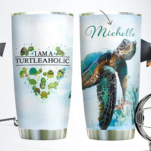 New sales Excellence Personalized Sea Turtle Heart Shaped Tumbler Turtleah Cup Am A I