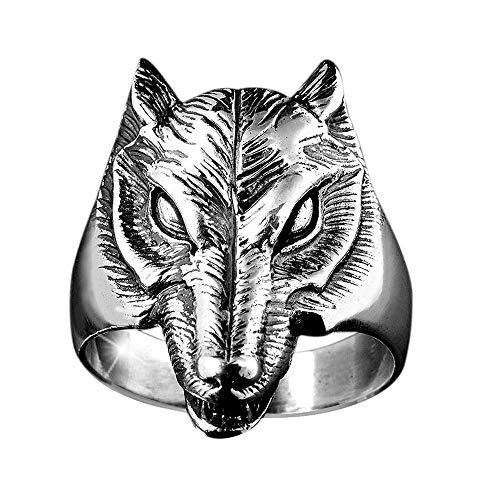 MATERIA Damen Herren Ring Wolf 925 Silber Ring massiv 10,9g / 17 18 19 20 21mm inkl. Ring Box #SR-30, Ringgrößen:57 (18.1 mm Ø)