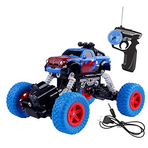 RC Cars Off-Road Rock Vehículo Crawler Truck 1/22 10KM/H 4WD Coche de carreras eléctrico Buggy Off-Road Vehículo RC Crawler Car Model Toys (azul)