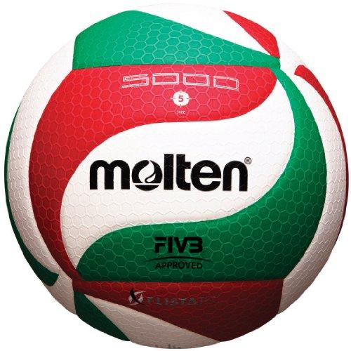 Molten V5M5000 Herren NCAA Flistatech Volleyball (rot/grün/weiß, offiziell)