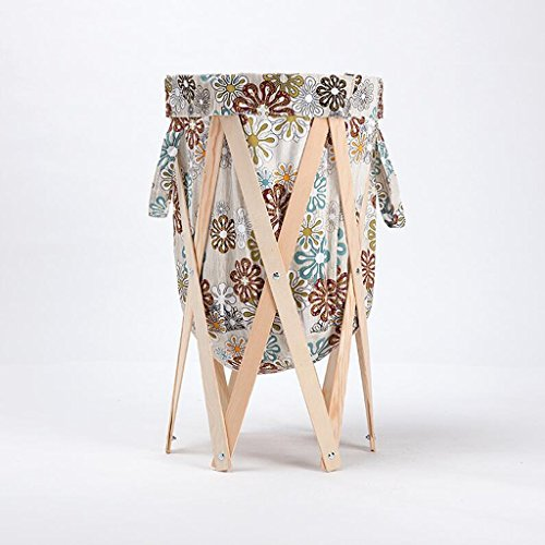 Modèle de flocon de neige beige Textile Stent de couleur en bois Changer les paniers de vêtements Corbeille de rangement Tissu de salle de bain avec panier à linge Plier le panier Rollsnownow