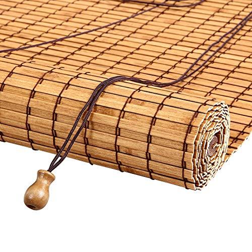 ERLAN Bambusrollo Bambus Rollläden Jalousie - Außen Sonnenschutz Jalousien für Den Garten Pavillon Teehaus, Breite 85/105/125/145 cm (Size : 85×200cm/33.5×78.7in)