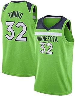 Ropa De Baloncesto para Hombres Jersey DAngelo Russell # 1 Minnesota Timberwolves Camiseta Sin Mangas Transpirable Fitness Sudadera Jersey Fan Color : N, Size : XS//32
