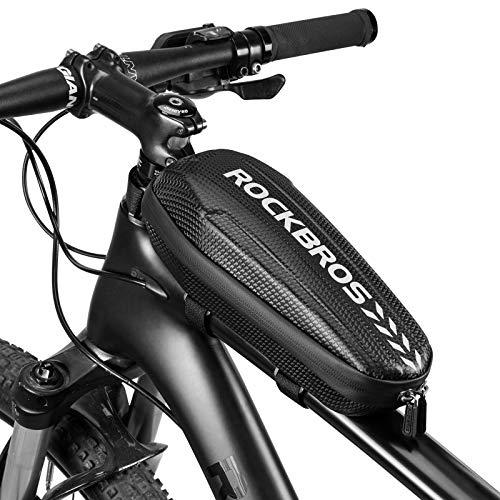ROCKBROS Fahrrad Rahmentasche wasserdicht Oberrohrtasche für MTB Rennrad Faltrad Schwarz L 1.5L / M 1.1L