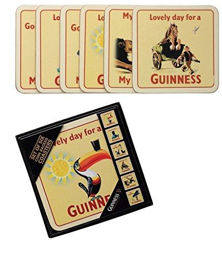 Guinness confezione da 6 sottobicchieri in sughero