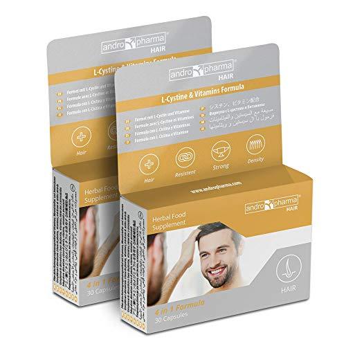 X2 Andropharma-haar. Behandeling tegen haaruitval. Haaruitval hergroei pillen mannen Haaruitval supplement (60 capsules = 2 maanden)