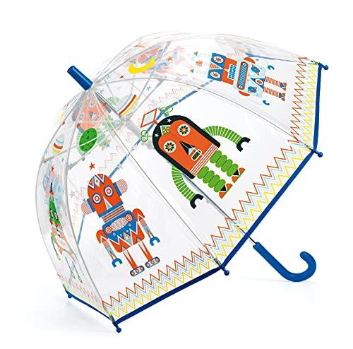 Djeco- Paraguas Infantil Robots...