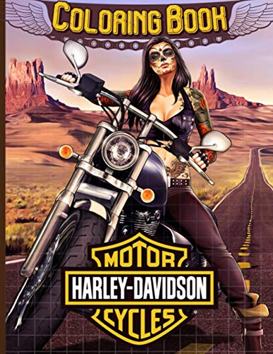 Harley Davidson Coloring Book: Harley Davidson Adult Coloring Books For Men And Women