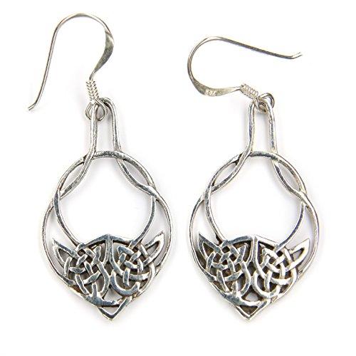 Drachensilber Keltischer Ohrschmuck Ohrringe Kelten Silber Ohrhänger 925 Sterlingsilber Einhänger Schmuck Frauen Damen Mittelalter Keltenknoten